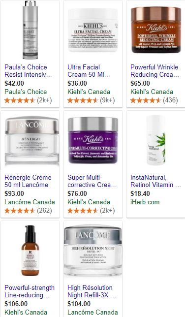 Top rated anti aging creams